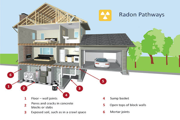 radon pathways